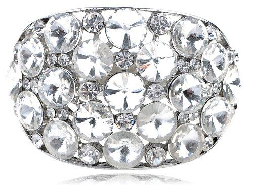 Chunky Large Ice Bling Crystal Rhinestone Statement Fashion Bracelet Bangle Cuff