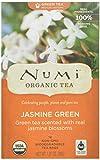 Numi Organic Tea Jasmine Green, Full Leaf Green Tea, 18-Count Tea Bags (Pack of 3)
