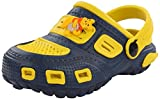 Phonix Unisex Kids' Yellow and Blue Synthetic Crocs - 7 UK