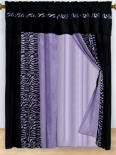 Purple Zebra Bedding front-215103