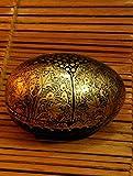 The India Craft House Black & Gold egg shaped box (H-3