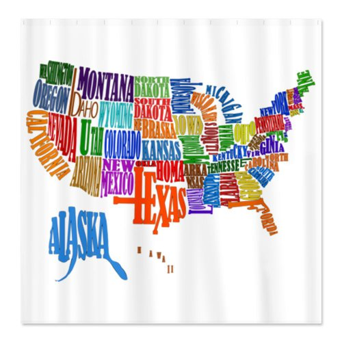 CafePress United States Map Shower Curtain
