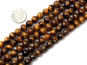 8mm Round gemstone tiger eye stone beads strand 15quot