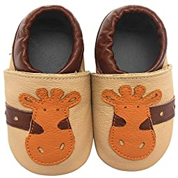 Sayoyo Adorable Giraffe Soft Sole Leather Baby Shoes Baby Moccasins(6-12 months)