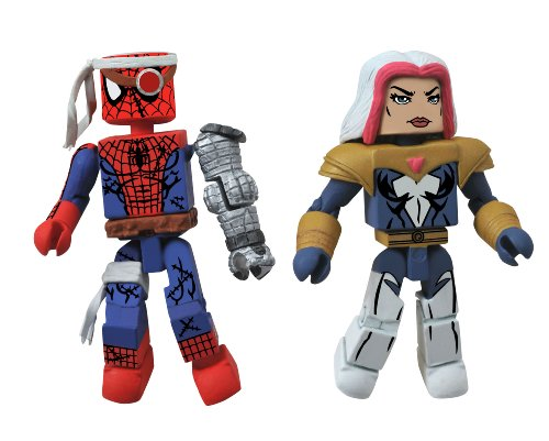 Diamond Select Toys Marvel Minimates Series 50 Fan's Choice Series Cyborg Spider-Man and Songbird Action Figure - 1