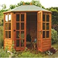 TIMBER OCTAGONAL SUMMERHOUSE 8ft x 6ft OGD072