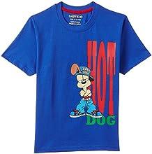 Garfield Boy's T-Shirt (B3IN021GF_Blue_7 - 8 years)