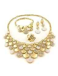 Designer Jewellery Set in Golden Color