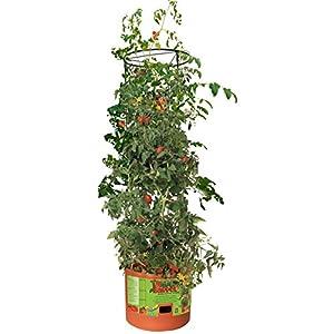 Hydrofarm Tomato Barrel Pot Garden Planters w/ 4 Foot Trellis Tower | GCTB from Hydrofarm