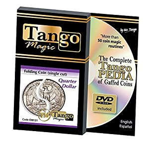 MMS Folding Quarter Dollar (Single Cut with DVD) (D0121) by Tango - Trick