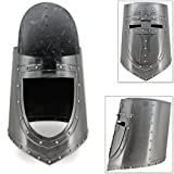 Visored Great Helm 13th Century German Flat Top Plate Armor Helmet 18G Steel