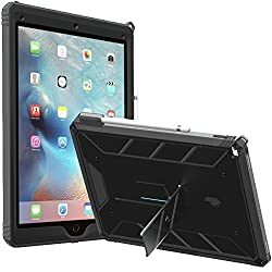 iPad Pro Case, POETIC Revolution [Premium Rugged][Landscape Stand Feature][Shock Absorption & Dust Resistant] Protective Case w/ Built-In Screen Protector for Apple iPad Pro Black/Dark Gray