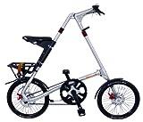 STRIDA(ストライダ) 18インチシマノ3段変速アロイ製折りたたみ自転車 [ディスクブレーキ/リアキャリア/泥除け/ベル標準装備]ブラッシュ STRIDA EVO