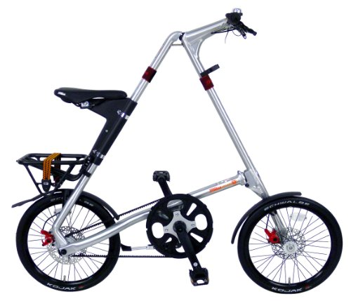 STRIDA(ストライダ) 18インチ折りたたみ自転車 内装3段変速 アルミフレーム 前後ディスクブレーキ STRIDA EVO 2015 ブラッシュ