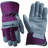 Wells Lamont 4113S Suede Cowhide Work Gloves, Safety Cuff, Reinforced Palm, Small