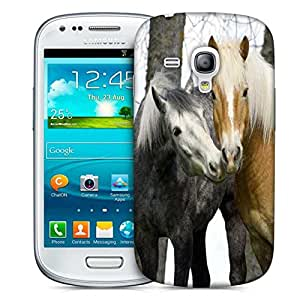 Snoogg Couple Of Horse Designer Protective Phone Back Case Cover For Samsung Galaxy S3 Mini