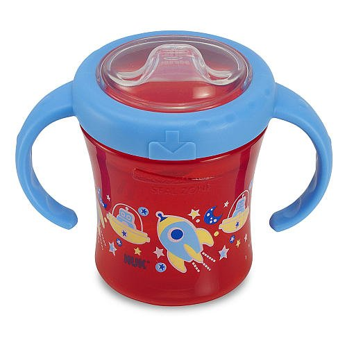 Nuk Gerber Graduates Advance Silicone Spout 2Handle 7 Ounce Trainer Sippy Cup Blue Space Men