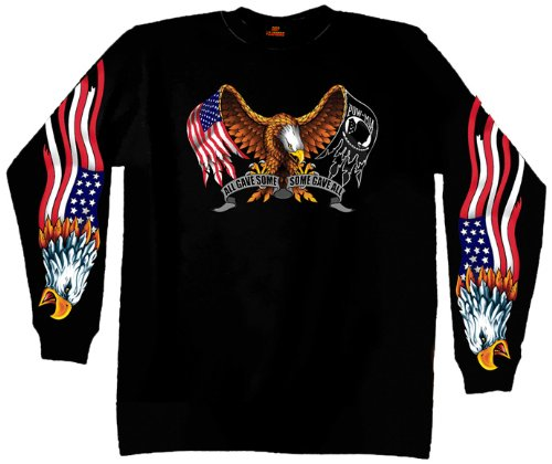 Hot Leathers Some Gave All Long Sleeve T-Shirt (Black, Medium)