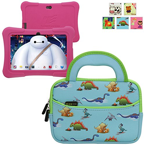 Find Bargain Evecase TABLET EXPRESS Y88X Kids Dragon Touch 7IN Android Tablet Sleeve, Cute Dinosaurs...