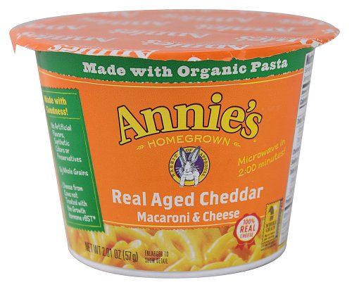 Annie'S Homegrown - Real Aged Cheddar Microwavable Mac And Cheese Cup (Organic & 100% Real Cheese), Buy Twelve And Save, Each Cup Is 2 Oz (Pack Of 12)