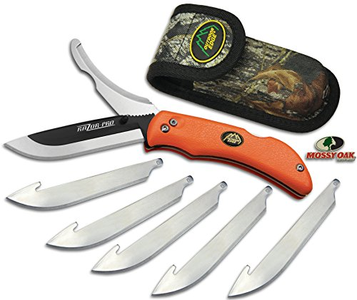 Outdoor Edge Cutlery Razor-Pro Knife, Orange