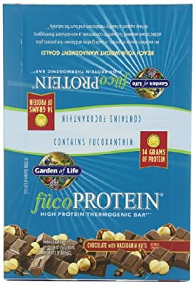 Garden of Life fucoProtein Chocolate with Macadamia Nuts 55g (12-pack)