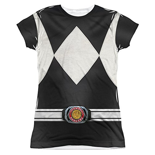 Power Rangers Children's Live Action TV Series Gray Costume Junior Front Print T