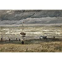 Tallenge - Vincent Van Gogh - View Of The Sea At Scheveningen - Large Size Unframed Rolled Digital Art Print On...