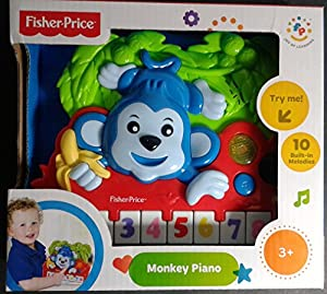 Fisher Price Monkey Piano (Batteries Included)