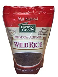 buy Nature'S Earthly Choice Minnesota Cultivated Wild Rice, All Natural, 3 Pounds