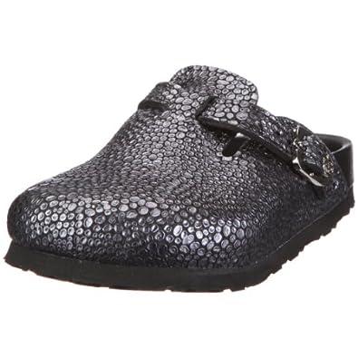 Birkenstock Boston Bambi Smooth Leather, Style-No. 860923, Children Clogs, Smoke Black Tribute to Bambi, EU 31, slim width