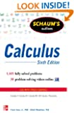Schaum's Outline of Calculus, 6th Edition: 1,105 Solved Problems + 30 Videos (Schaum's Outline Series)