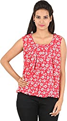 Amadeo Women's Sleeveless Top (KRISHA02, Pink , X-Large)