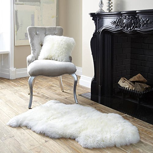 Genuine Single Sheepskin Rug. Sheep Skin Fur. Natural Color Hair.size : 2x3 (Xl)