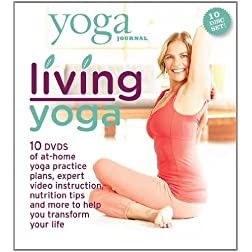 Yoga Journal: Living Yoga Transform Your Life 10 DVD Set