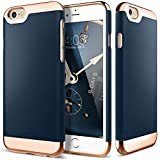 iPhone 6 Case, Caseology® [Savoy Series] [Navy Blue] Dual Layer Slider / Soft Interior Cover [Premium Rose Gold Case] for Apple iPhone 6 (2014)