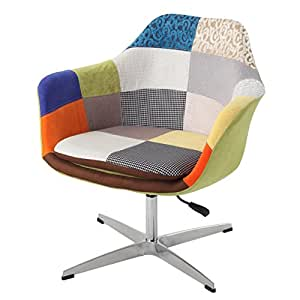 Modhaus modern patchwork fabric upholstered for Modern swivel accent chair