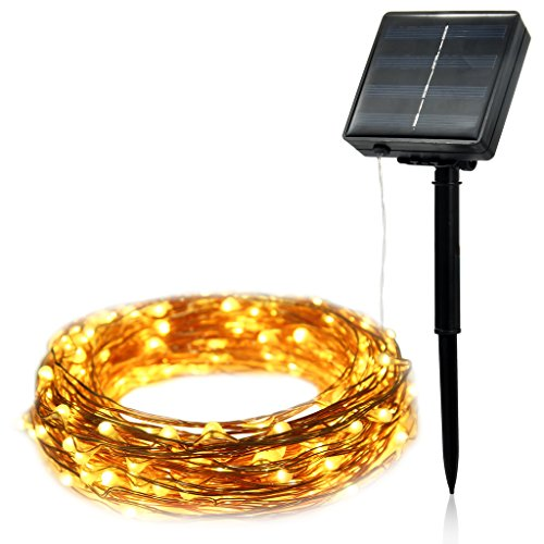 ILLUNITE Solar Powered String Fairy Lights 66 ft Bendable Copper Wire Ambiance Lights With 200 Twinkling & Shimmering LEDS For Christmas,Xmas ,Garden,Wedding,Patio,Party (Warm White) (Light Wave Stove compare prices)