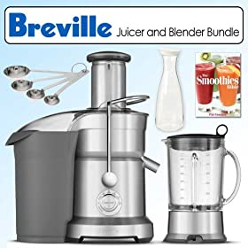 Breville BJB840XL The Juice and Blend Juicer and Blender Combo Bundle