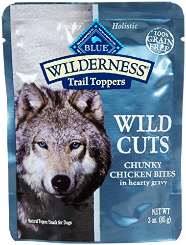Blue Buffalo Wilderness Trail Toppers Chunky Chicken Bites Dog Food, 24 by 3 oz.