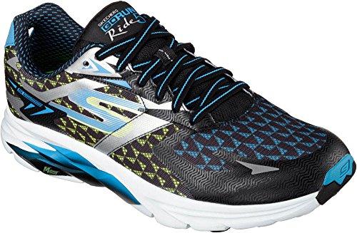 Skechers Performance Men's Go Run Ride 5 Running Shoe, Black/Blue, 9.5 M US