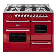 Britannia RC-11XGG-DE-RED Delphi XG 110cm Dual Fuel Range Cooker - Gloss Red