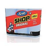Scott 75143 Scott Shop Towels, Blue (3 Rolls, Pack of 165)