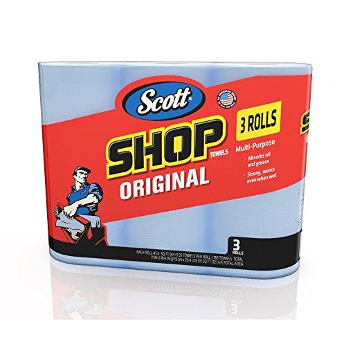 Scott 75143 Scott Shop Towels, Blue (3 Rolls, Pack of 165) (Blue Shop Towels compare prices)