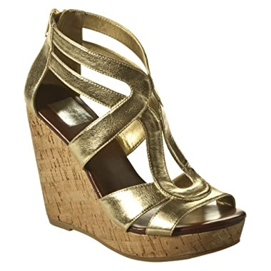 Product Image Women's Dolce Vita for Target® Cork Wedge Sandals - Gold