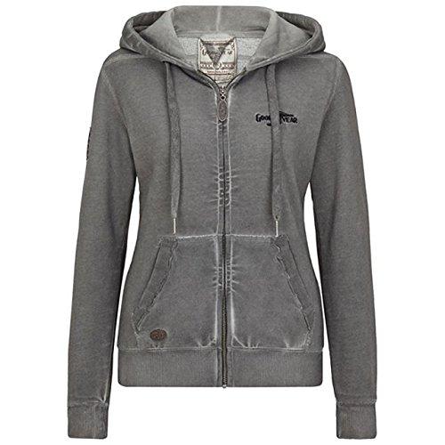 Goodyear Damen Zip Hoody Portage, Color:dark grey;Größe:S
