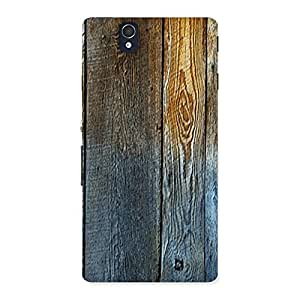 Cute Wall Bar Wood Back Case Cover for Sony Xperia Z