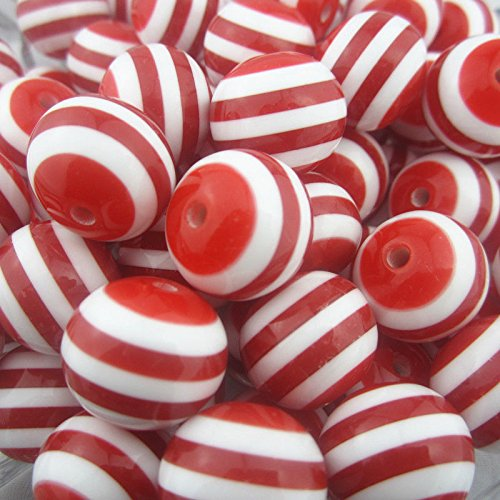 10 PCs Red Resin Stripe Beads For Chunky Necklace Bracelet Pendant Jewelry 20 mm (Little Window Resin compare prices)