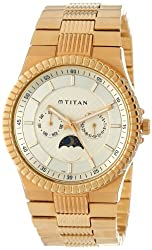 Titan Regalia Analog Gold Dial Mens Watch - NE1532YM02