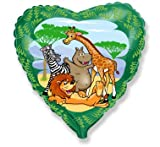 18'' Jungle/Wild Animals Foil Helium Balloon